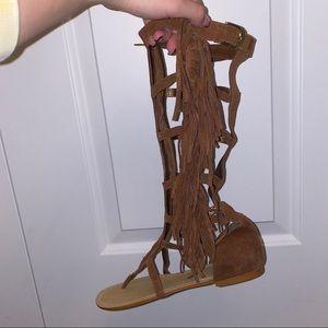 Colin Stuart Fringe Gladiator Sandals
